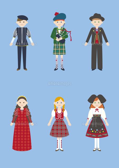 世界の民族衣装イタリアイギリスドイツ60026000025の写真素材
