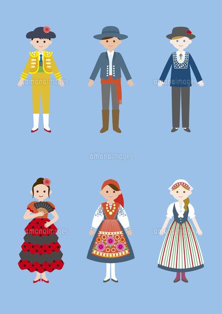 世界の民族衣装スペインポルトガルスイス60026000037の写真
