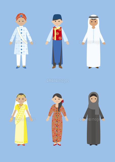 世界の民族衣装インドシンガポールドバイ60026000041の写真