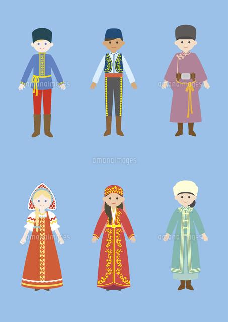世界の民族衣装ロシアトルコモンゴル60026000042の写真素材