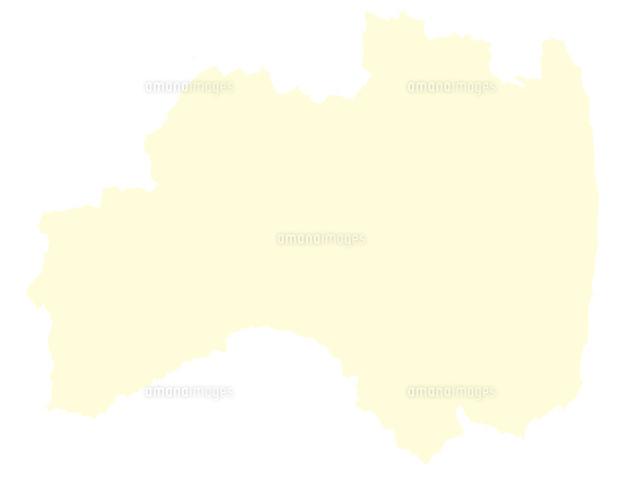 都道府県ポリゴン地図eps福島県境界無60037000007の写真素材