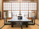 Typical Japanese dining room