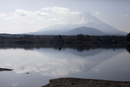 Calm lake against Mt Fuji, Japan