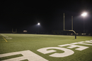 College football field at night
