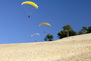 Hang gliders over Dune du Pyla, Bay of Arcachon, Cote d
