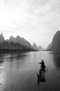 Cormorant fisherman, River Li, Guilin
