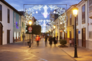 Calle Real at Christmas time, San Sebastian, La Gomera, Canary Islands
