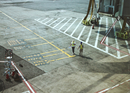 High Angle View Of People Working At Airport