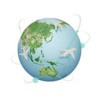飛行機と地球 07800022108| 写真素材・ストックフォト・画像・イラスト素材|アマナイメージズ