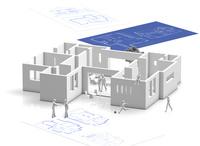 家の設計図 10131025393  写真素材・ストックフォト・画像・イラスト素材 アマナイメージズ