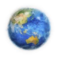 絵画調表現の地球(アジア) 10143009928| 写真素材・ストックフォト・画像・イラスト素材|アマナイメージズ