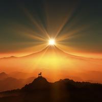 富士山と羊 10185001856| 写真素材・ストックフォト・画像・イラスト素材|アマナイメージズ