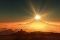 富士山と羊 10185001860| 写真素材・ストックフォト・画像・イラスト素材|アマナイメージズ