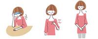貧血、胸の痛み、子宮の痛みがある女性 10423000054| 写真素材・ストックフォト・画像・イラスト素材|アマナイメージズ