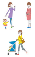 妊婦と親子 10423000070| 写真素材・ストックフォト・画像・イラスト素材|アマナイメージズ