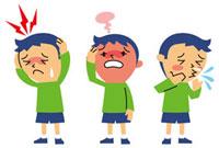 頭痛、発熱、鼻炎の男の子 10423000084| 写真素材・ストックフォト・画像・イラスト素材|アマナイメージズ