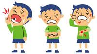 虫歯、皮膚のかぶれ、怪我をした男の子 10423000086| 写真素材・ストックフォト・画像・イラスト素材|アマナイメージズ
