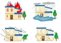 火事・台風・地震・水害 10423000449| 写真素材・ストックフォト・画像・イラスト素材|アマナイメージズ