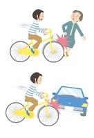 自転車事故(対人、対車) 10423000463| 写真素材・ストックフォト・画像・イラスト素材|アマナイメージズ