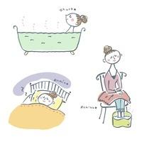 温浴、足湯、快眠、女性   10423000591| 写真素材・ストックフォト・画像・イラスト素材|アマナイメージズ