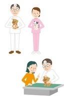 犬・猫を診察する獣医 10423000611| 写真素材・ストックフォト・画像・イラスト素材|アマナイメージズ