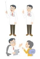 ベテラン男性医師(教鞭、指さし、診察) 10423000631| 写真素材・ストックフォト・画像・イラスト素材|アマナイメージズ