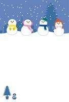 雪だるまの寒中お見舞い 10423000633| 写真素材・ストックフォト・画像・イラスト素材|アマナイメージズ