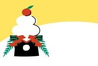 正月の鏡餅 10423000634| 写真素材・ストックフォト・画像・イラスト素材|アマナイメージズ