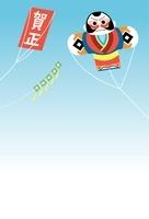 やっこ凧と賀正の凧 10423000654| 写真素材・ストックフォト・画像・イラスト素材|アマナイメージズ