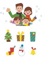 家族とクリスマスアイコン 10423000676| 写真素材・ストックフォト・画像・イラスト素材|アマナイメージズ