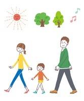 歩く家族 10423000701| 写真素材・ストックフォト・画像・イラスト素材|アマナイメージズ