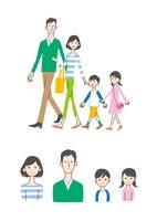 歩く家族、バストアップ 10423000707| 写真素材・ストックフォト・画像・イラスト素材|アマナイメージズ
