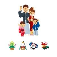 家族、正月 10423000712| 写真素材・ストックフォト・画像・イラスト素材|アマナイメージズ