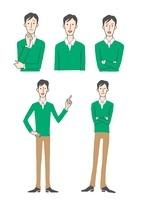 男性表情3パターン、指さし 10423000759| 写真素材・ストックフォト・画像・イラスト素材|アマナイメージズ