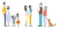 ポスターや看板を見ている人々、家族、主婦、老夫婦 10423000777| 写真素材・ストックフォト・画像・イラスト素材|アマナイメージズ