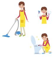 掃除している女性 10423000808| 写真素材・ストックフォト・画像・イラスト素材|アマナイメージズ