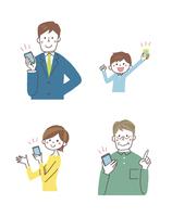 スマートフォンと人 10423000813| 写真素材・ストックフォト・画像・イラスト素材|アマナイメージズ