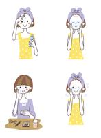 スキンケアをする女性 10423000814| 写真素材・ストックフォト・画像・イラスト素材|アマナイメージズ