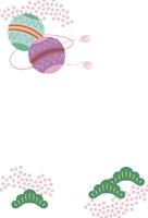 年賀状 鞠 10423000881| 写真素材・ストックフォト・画像・イラスト素材|アマナイメージズ