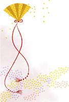 年賀状 扇 10423000882| 写真素材・ストックフォト・画像・イラスト素材|アマナイメージズ