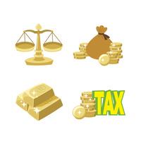 金融(天秤、銭袋、金塊、税金) 10423001032| 写真素材・ストックフォト・画像・イラスト素材|アマナイメージズ
