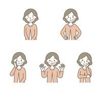 おばあちゃん表情5パターン 10423001087| 写真素材・ストックフォト・画像・イラスト素材|アマナイメージズ