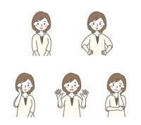 お母さん表情5パターン 10423001089| 写真素材・ストックフォト・画像・イラスト素材|アマナイメージズ