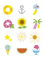 イラストアイコン・夏 10423001095| 写真素材・ストックフォト・画像・イラスト素材|アマナイメージズ