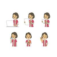 年配女性表情(パソコン、タブレット、スマートフォン、相槌、断る) 10423001180| 写真素材・ストックフォト・画像・イラスト素材|アマナイメージズ