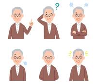 男性高齢者の表情6パターン 10423001182| 写真素材・ストックフォト・画像・イラスト素材|アマナイメージズ