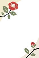椿の年賀状 10423001214| 写真素材・ストックフォト・画像・イラスト素材|アマナイメージズ