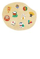年賀状・縁起物 10423001247| 写真素材・ストックフォト・画像・イラスト素材|アマナイメージズ