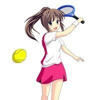 テニスで元気にショットを決める女子生徒 10438000049  写真素材・ストックフォト・画像・イラスト素材 アマナイメージズ