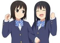 腕を組む二人の女子生徒 10443000042  写真素材・ストックフォト・画像・イラスト素材 アマナイメージズ